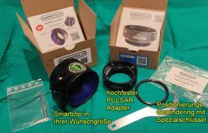 Smartclip HighEnd Adapter für PULSAR FNxxx bei Jagdabsehen komplett 2