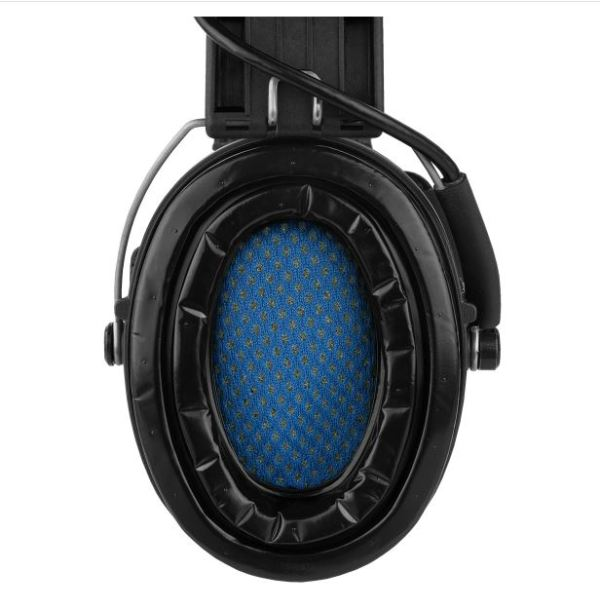 Sordin Supreme Pro-X LED Aktiver Kapselgehörschutz - Kapseln+Gelkissen+Lederband=Schwarz bei Jagdabsehen Karlsruhe 2