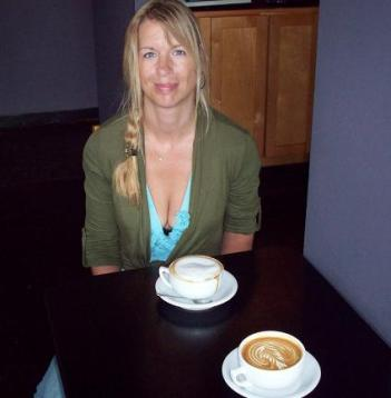 Silke and Nick at Caffe Zingaro