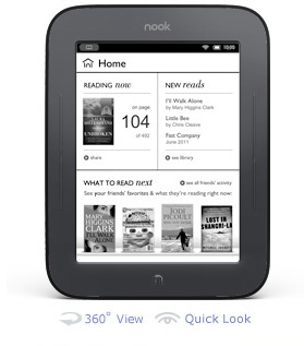 The Nook from Barnes and Noble