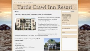 Website of a resort in Florida