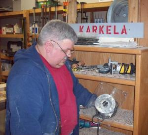 Working with wood in the Karkela shop