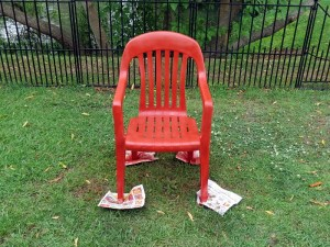 Old Chair After Spraypainting