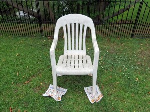 Old Chair Before Spray Paint