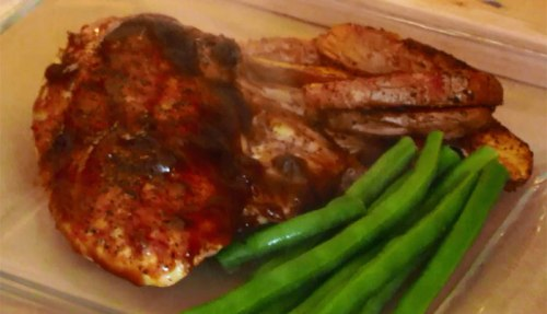 Baked BBQ Chicken Dinner