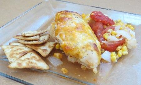 Chicken Breast Fiesta Style with Pita Chips