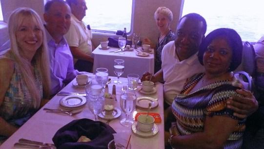 Dinner on a cruise ship