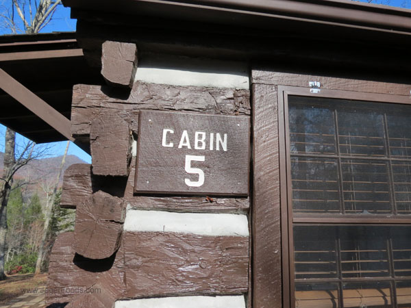 Cabin #5 at SC state park