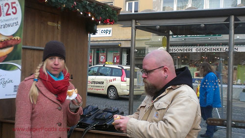 Eating Brats in Germany