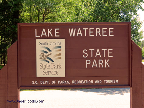 Lake Wateree State Park Sign