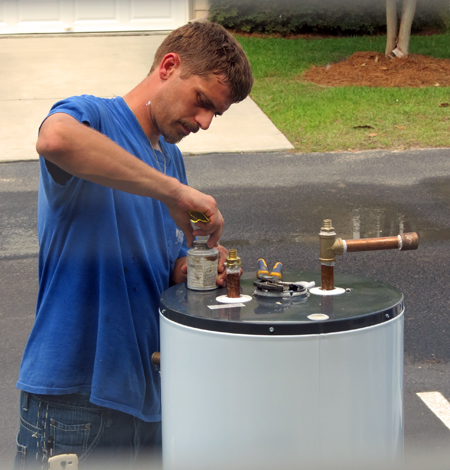 Plumber Prep Work For Water Heater Installation