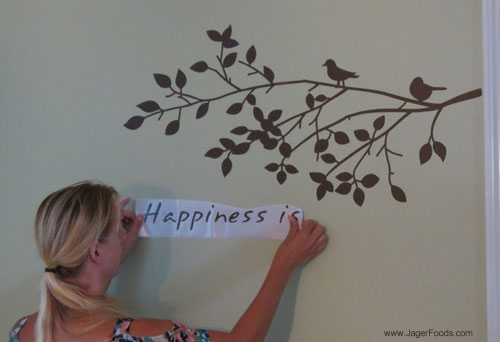 Placing Happiness Sticker