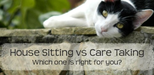 Difference between house sitting and care taking