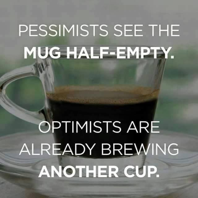 Coffee Mug Half Empty Or Hall Full
