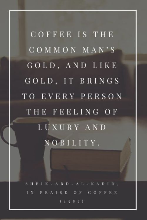 coffee brings luxury and nobility