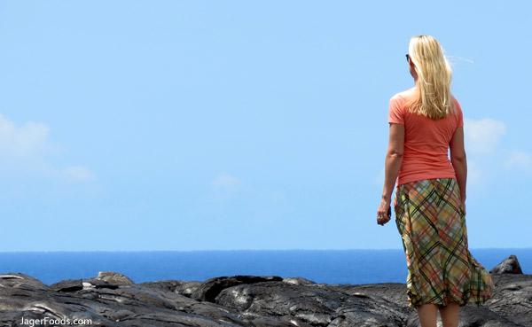 Lava Ocean Hawaii