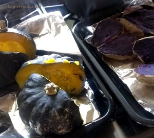 Squash and sweet potatoes for DIY dog food