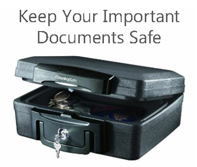 Keep your important documents safe in a lockbox