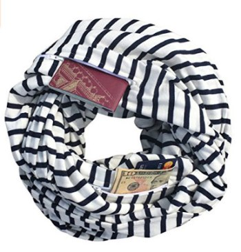 Keep valuables safe with a travel scarf