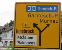 German road sign