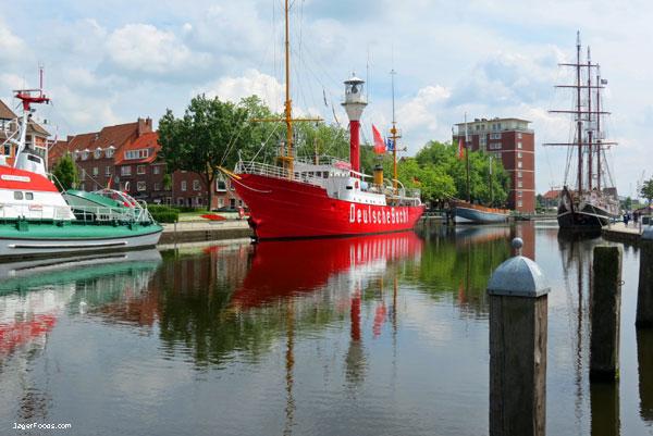 Harbor in Emden Germany