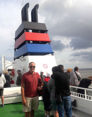 On the ferry to the island of Norderney