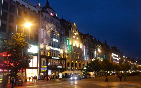 Discovering Prague At Night - Wenceslas Square