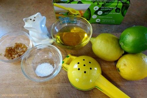 Simple lemon lime salad dressing
