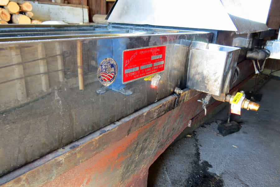 The Evaporation Tank for making Maple Syrup