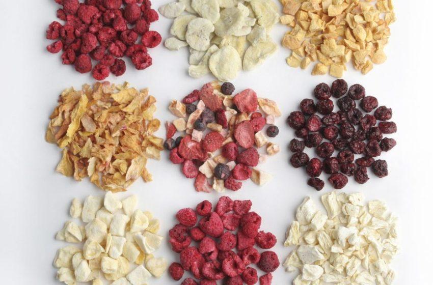 Ринок сублімованих ягід і фруктів продовжуватиме зростати