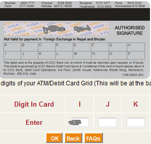 debit card grid value