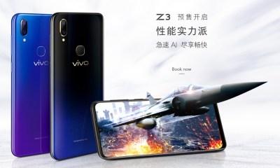 Vivo Z3 Diluncurkan di China, Ini Spesifikasi dan Harganya