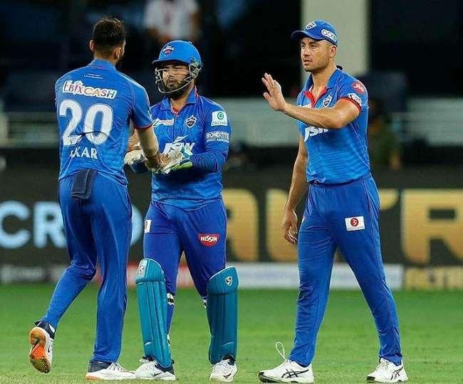 दिल्ली कैपिटल्स के खिलाड़ी- फोटो ट्विटर पेज