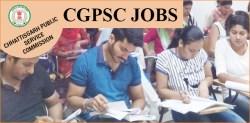 CGPSC Jobs Recruitment 2019