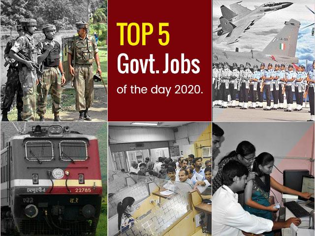 शीर्ष 5 सरकारी। दिन -07 सितंबर 2020 की नौकरियां