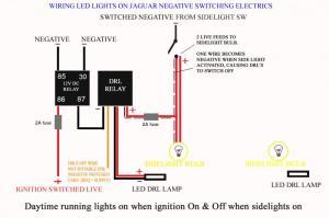 Wiring led lights on negative switched cars  Jaguar