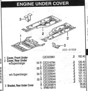 Diagram of under body trays?  Jaguar Forums  Jaguar