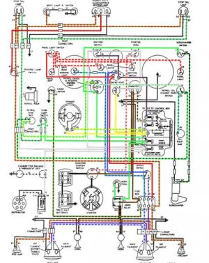Free! Self made Colour coded XK120 LHD DHC wiring diagram