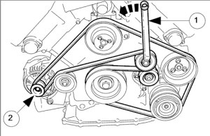 Alternator replacement  how to remove the drive belt