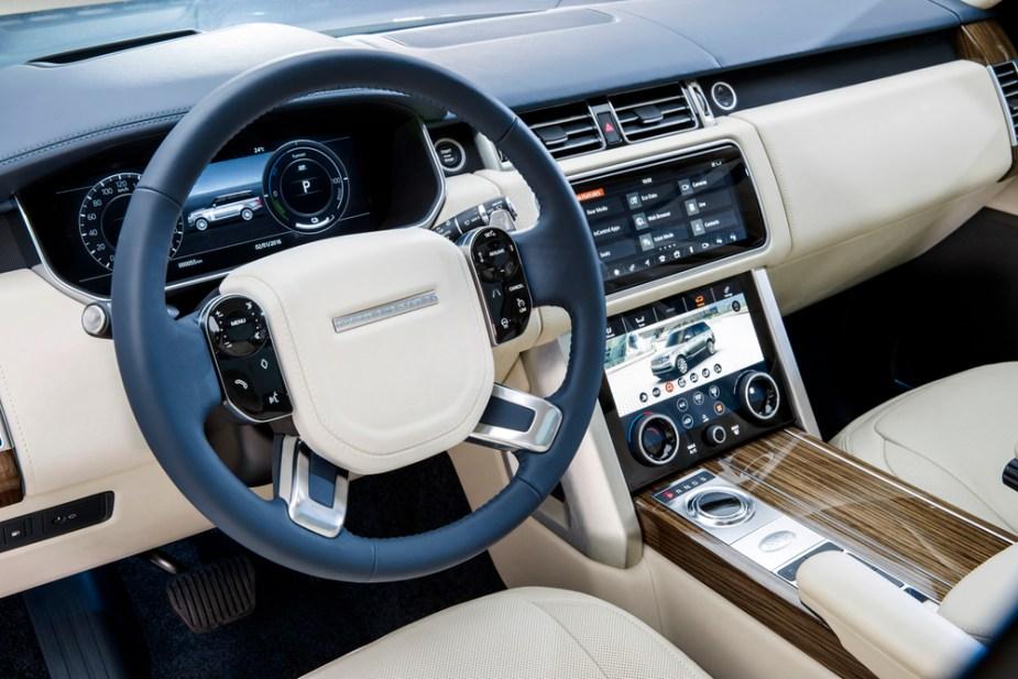 2018 Range Rover interior shot.