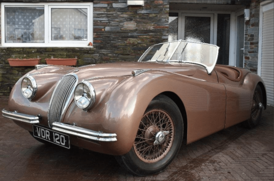 Malcolm Brock's 300,000 mile Jaguar XK120.