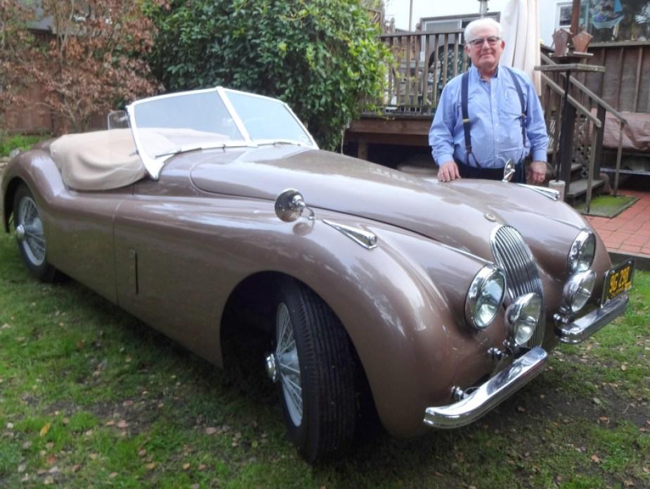 1952 Jaguar roadster restoration.