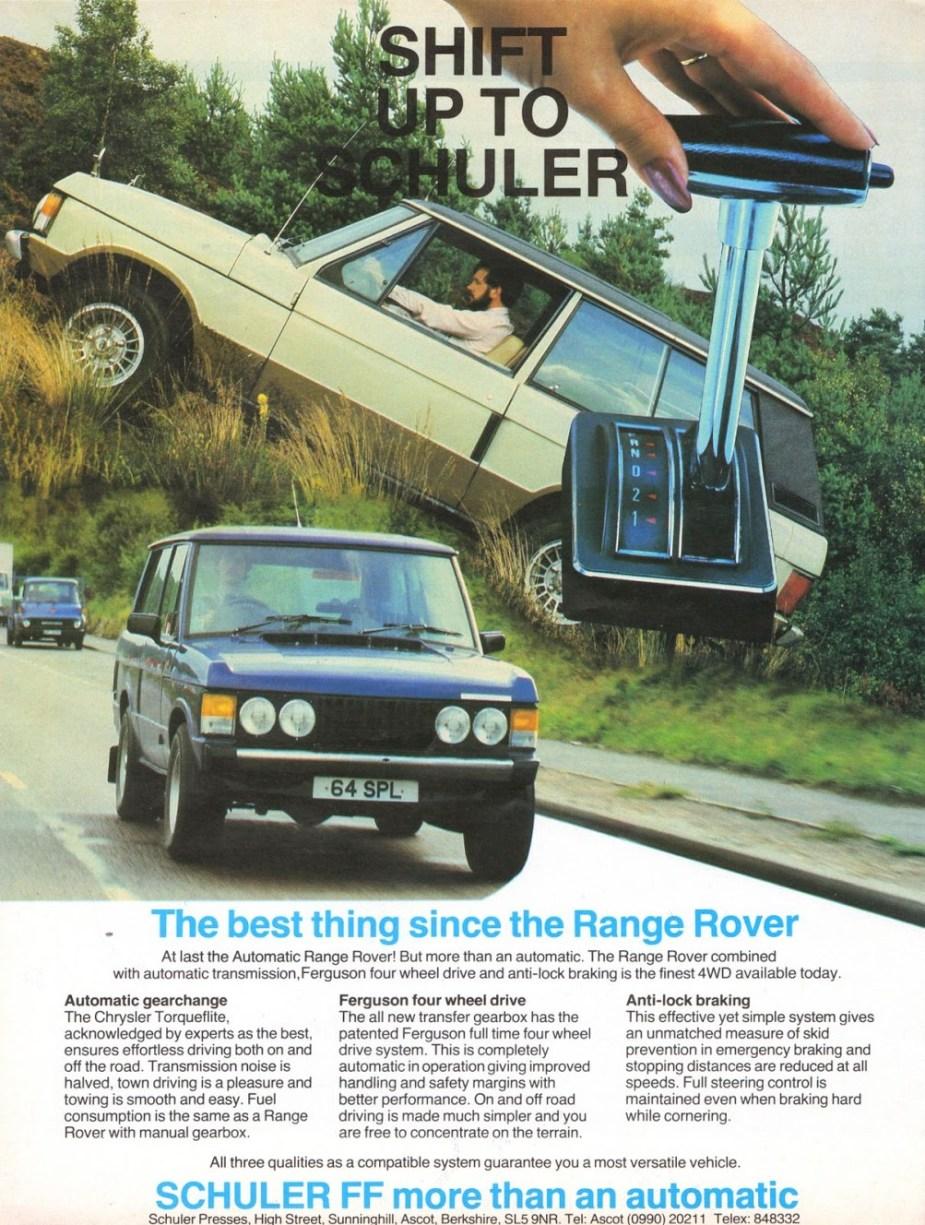 Shuler Range Rovers