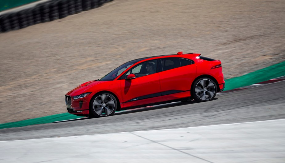 Jaguar I-PACE Laguna Seca Electric Vehicle Lap Record Monterrey Pebble Beach Concours d'Elegance Car Week Jaguarforums.com