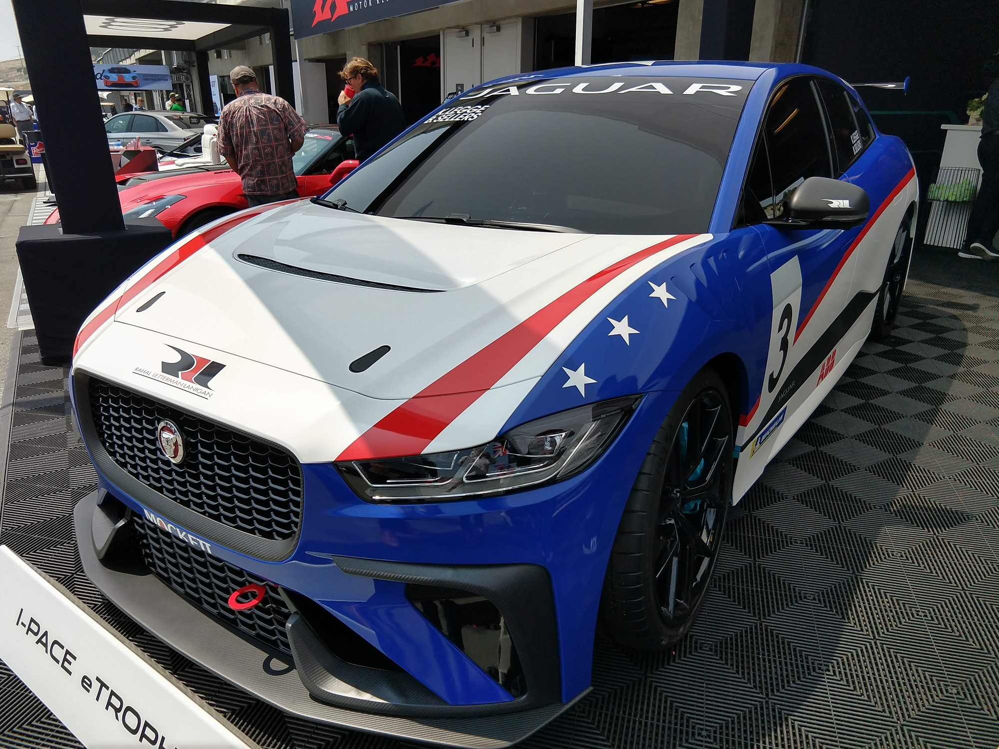 Jaguar I-PACE eTrophy Race Car Pebble Beach Car Week Jaguarforums.com