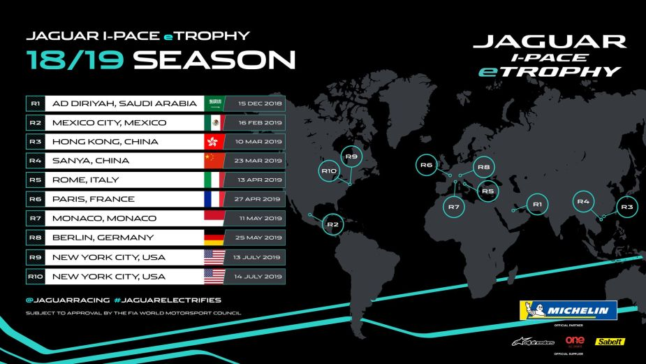 Jaguar I-PACE eTrophy Race Event Calendar Announced JaguarForums.com