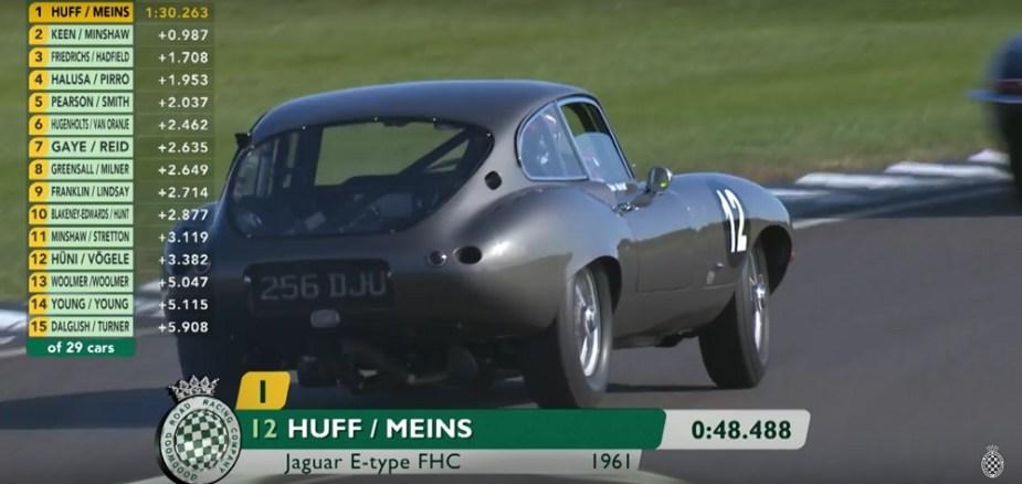1961 Jaguar FHC E-Type Drifting Goodwood Jaguarforums.com