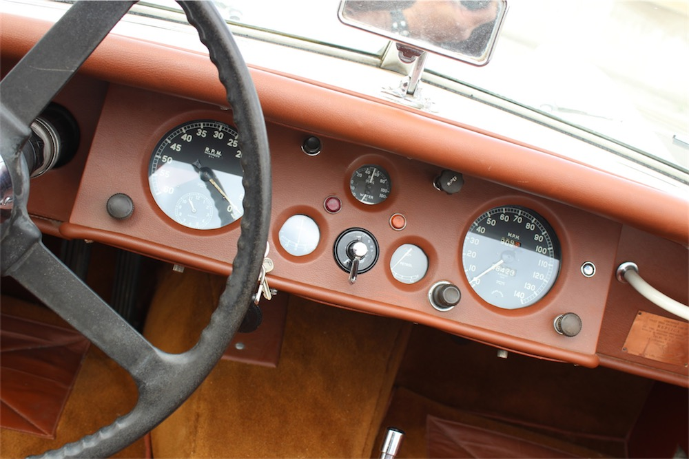 1954 XK120 SE Roadster white on brown.