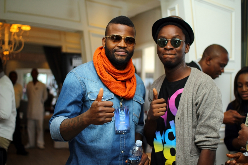 DJ Cleo and Onos Ovueraye at the MTV Africa All Stars press conference