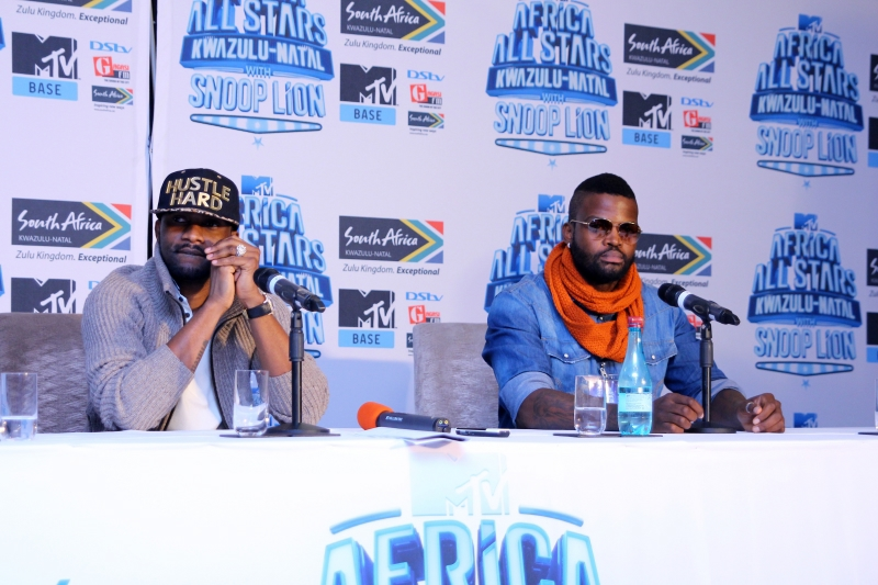 Fally Ipupa and DJ Cleo at the MTV Africa All Stars press conference